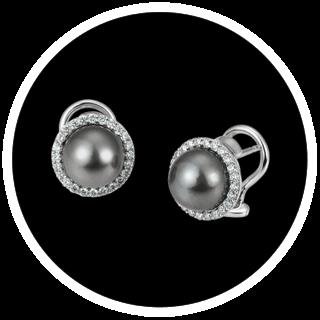 Ausgefallene Ohrringe mit Perlen