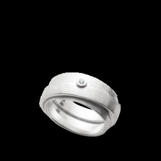 Bastian Ring Silber und Diamanten BI25431