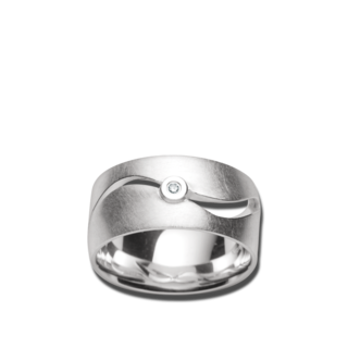 Bastian Ring Silber und Diamanten BI26101