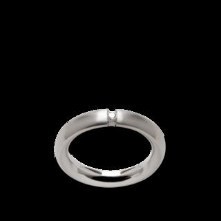 Bastian Solitairering Silber und Diamanten BI26561