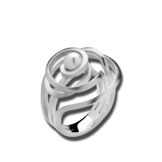 Bastian Ring Silber & Perlen 12538