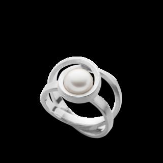 Bastian Ring Silber und Perlen BI38381