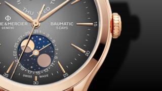 Baume & Mercier Clifton Baumatic Automatik Tag-Datum, Mondphase 42mm