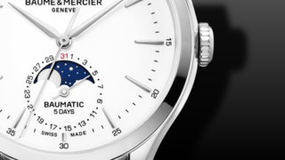 Baume & Mercier Clifton Baumatic Automatik Tag-Datum, Mondphase 42mm