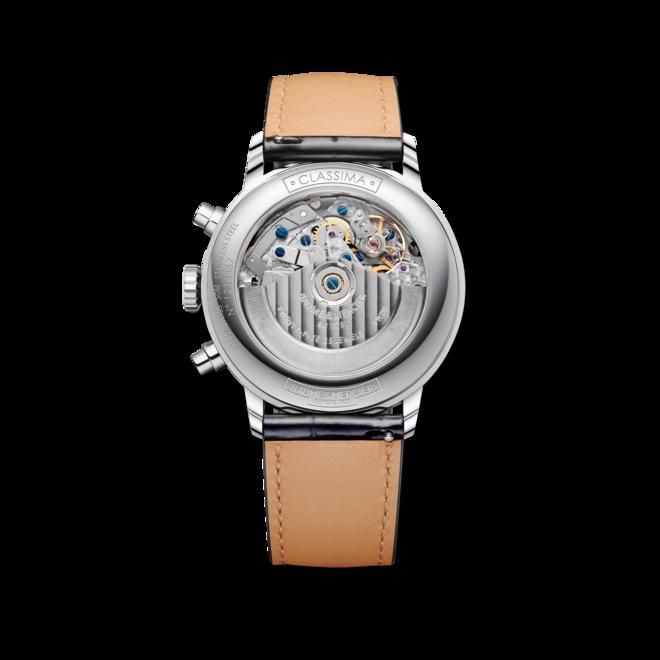Herrenuhr Baume & Mercier Classima Automatik mit blauem Zifferblatt und Alligatorenleder-Armband bei Brogle