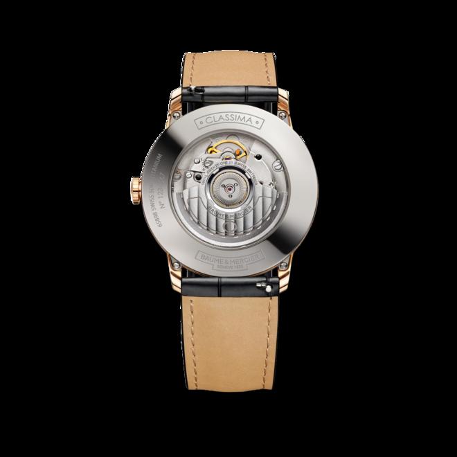 Herrenuhr Baume & Mercier Classima Automatik 39mm mit silberfarbenem Zifferblatt und Alligatorenleder-Armband bei Brogle