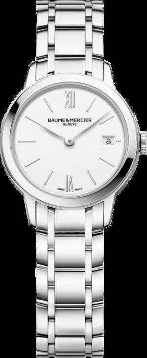Damenuhr Baume & Mercier Classima Lady mit weißem Zifferblatt und Edelstahlarmband