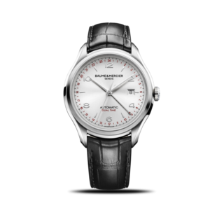 Baume & Mercier Herrenuhr Clifton Automatik Dual Time 43mm 10112