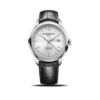 Baume & Mercier Herrenuhr Clifton Automatik Dual Time 43mm 10112