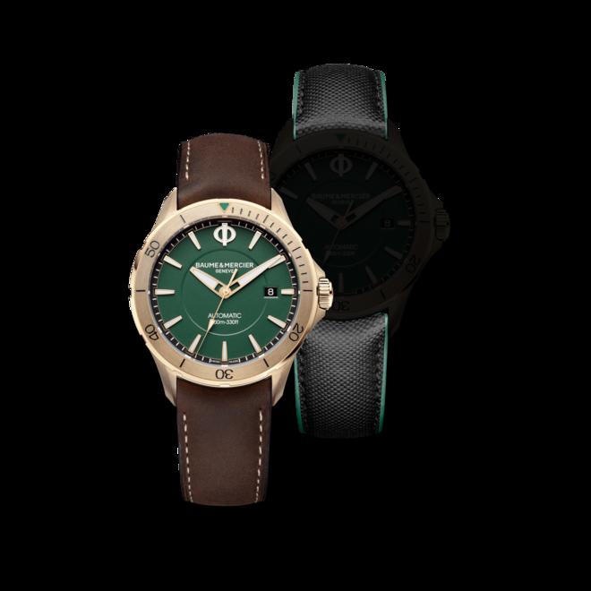 Herrenuhr Baume & Mercier Clifton Club mit grünem Zifferblatt und Kalbsleder-Armband bei Brogle