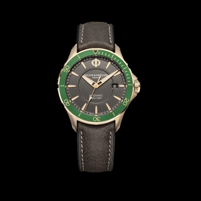 Herrenuhr Baume & Mercier Clifton Club mit grauem Zifferblatt und Kalbsleder-Armband bei Brogle