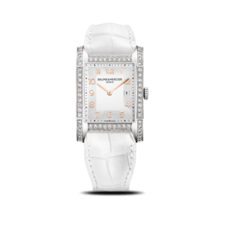 Baume & Mercier Damenuhr Hampton Quarz 40x27mm 10025