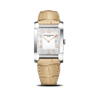 Baume & Mercier Damenuhr Hampton Quarz 40x27mm 10081