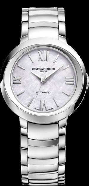Damenuhr Baume & Mercier Promesse Automatik 30mm mit weißem Zifferblatt und Edelstahlarmband