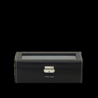Friedrich Uhrenbox mit Sichtfenster Bond 4 - Schwarz 70021-384