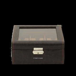 Friedrich Uhrenbox mit Sichtfenster Bond 6 - Braun 70021-383