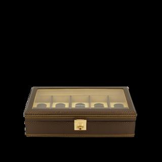 Friedrich Uhrenbox mit Sichtfenster Carbon 10 - Gelb 70021-317