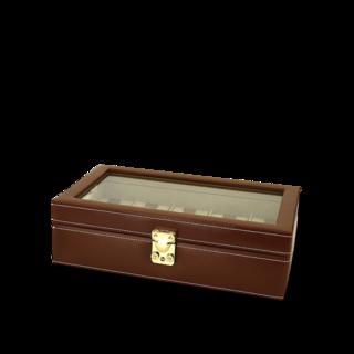 Friedrich Uhrenbox mit Sichtfenster Cordoba 10 - Dunkelbraun 70021-108