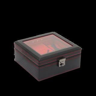 Friedrich Uhrenbox mit Sichtfenster LED - Schwarz 70021-441