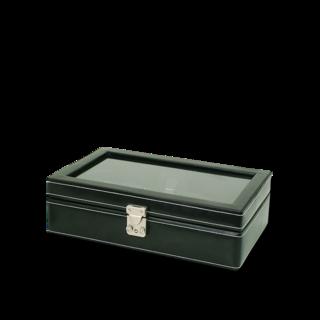 Friedrich Uhrenbox mit Sichtfenster London 10 - Schwarz 70021-100