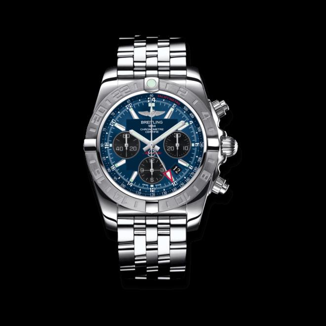 Herrenuhr Breitling Chronomat 44 GMT mit blauem Zifferblatt und Edelstahlarmband