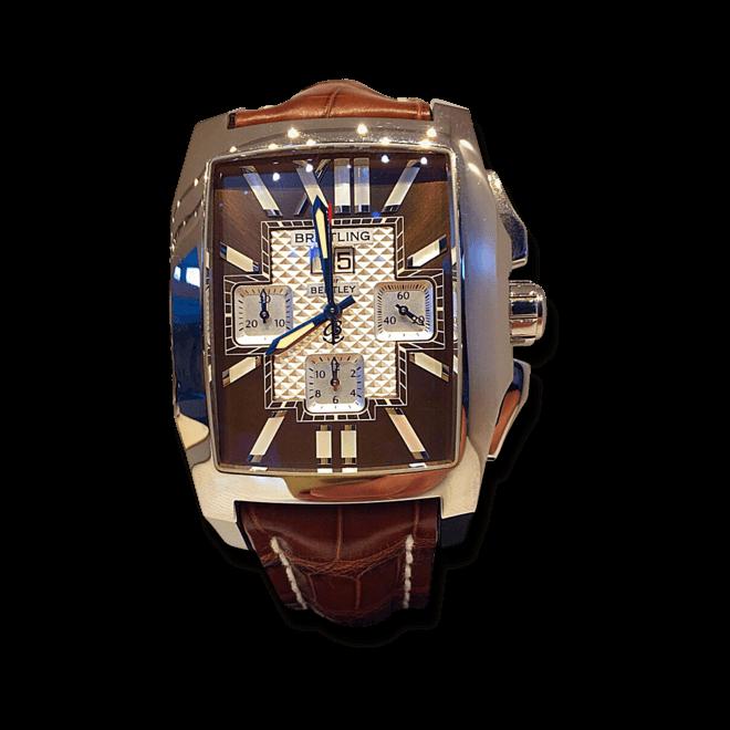 Herrenuhr Breitling Flying B mit bronzefarbenem Zifferblatt und Krokodilleder-Armband