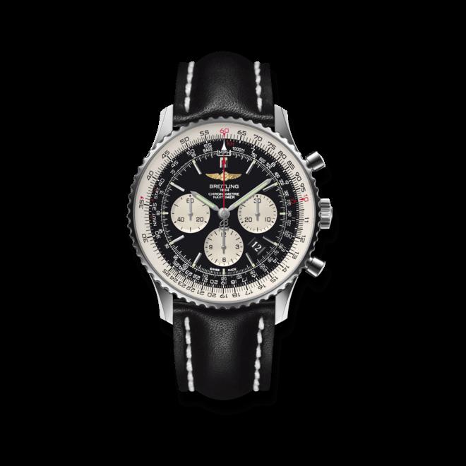 Herrenuhr Breitling Navitimer 01 46mm mit schwarzem Zifferblatt und Kalbsleder-Armband