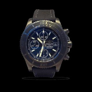 Breitling Herrenuhr Superocean Chronograph II Blacksteel M13341B7-BD11-109W-M20BA