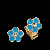 Brogle Atelier Ohrstecker Blaue Blumen C316-108