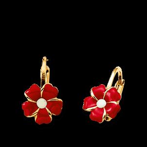 Brogle Atelier Ohrhänger Rote Blumen C316-073