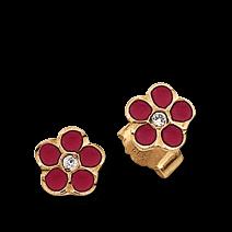 Brogle Atelier Ohrstecker Rote Blumen C316-107