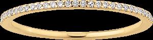 Memoirering Brogle Atelier First Love aus 585 Gelbgold mit mehreren Brillanten (0,09 Karat)