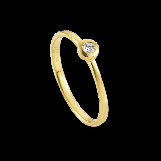 Solitairering Brogle Atelier First Love aus 585 Gelbgold mit 1 Diamant (0,05 Karat)
