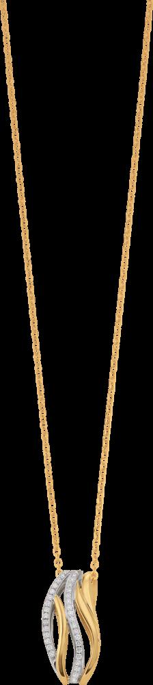 Anhänger Brogle Atelier Intense Brilliance aus 585 Gelbgold und 585 Weißgold mit mehreren Brillanten (0,37 Karat)