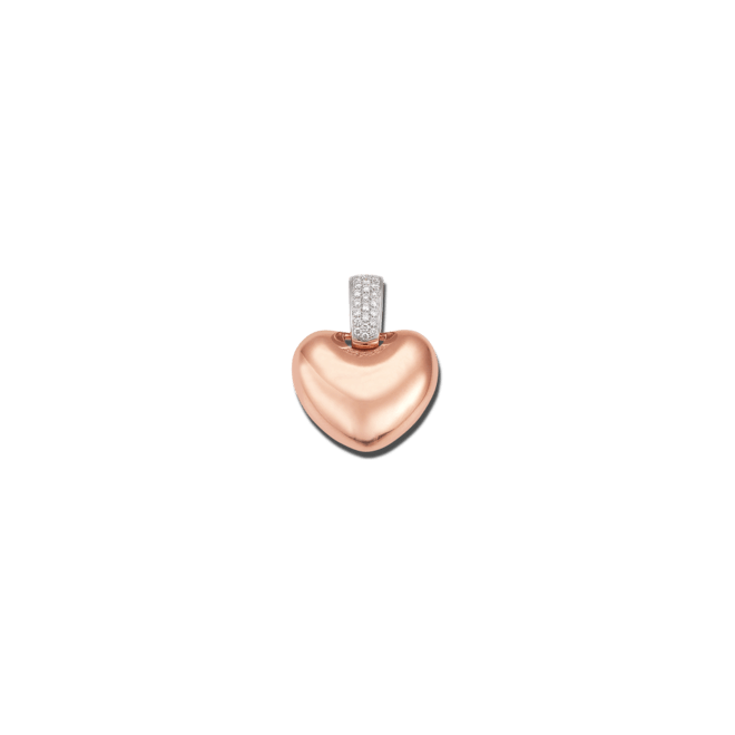 Anhänger Brogle Atelier First Love aus 750 Roségold mit mehreren Diamanten (0,171 Karat)