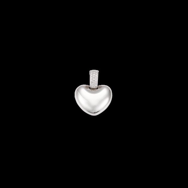 Anhänger Brogle Atelier First Love aus 750 Weißgold mit mehreren Diamanten (0,171 Karat)