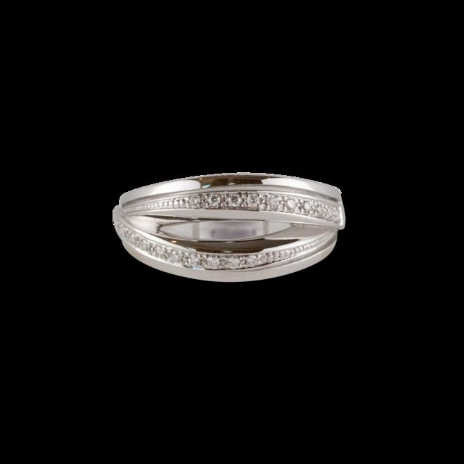 Ring Brogle Atelier Intense Brilliance aus 585 Weißgold mit mehreren Brillanten (0,15 Karat) bei Brogle