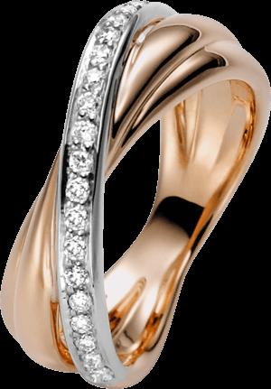 Ring Brogle Atelier Intense Brilliance aus 585 Weißgold und Roségold mit Brillant