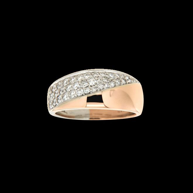 Ring Brogle Atelier Intense Brilliance aus 585 Roségold und 585 Weißgold mit mehreren Brillanten (0,725 Karat) Größe 56 bei Brogle