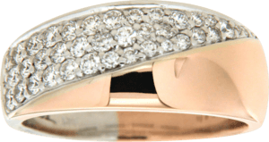 Ring Brogle Atelier Intense Brilliance aus 585 Roségold und 585 Weißgold mit mehreren Brillanten (0,725 Karat) Größe 56