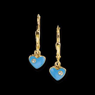 Brogle Atelier Ohrhänger Blaue Herzen C316-059