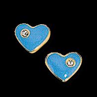 Brogle Atelier Ohrstecker Blaue Herzen C316-058