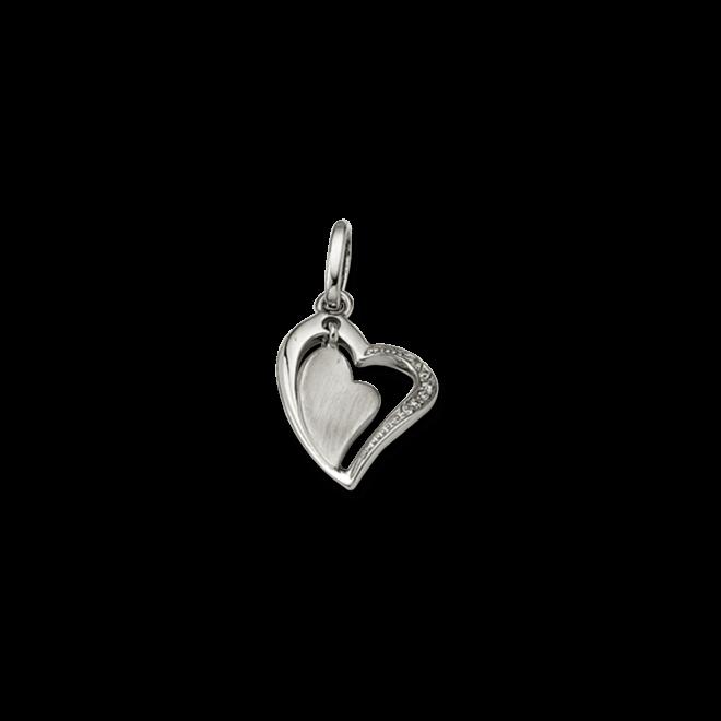 Anhänger Brogle Atelier Herz aus 925 Sterlingsilber mit weißem Zirkonia bei Brogle