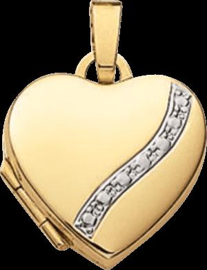 Medaillon Brogle Atelier Love Elements aus 585 Gelbgold und Weißgold