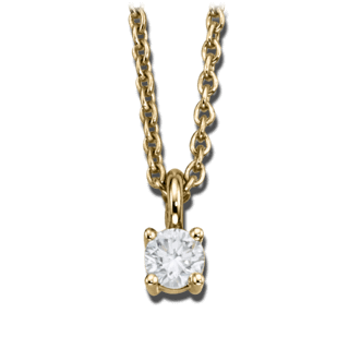 Brogle Atelier Halskette mit Anhänger Pure Elegance LW30-0871070-BGSI