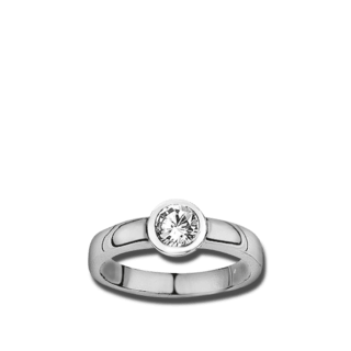 Brogle Atelier Solitairering Pure Solitaire F868W/SI