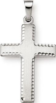 Anhänger Brogle Atelier Kreuz aus 585 Weißgold
