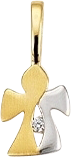Anhänger Brogle Atelier Lebensbegleiter aus 585 Gelbgold und 585 Weißgold mit 1 weißem Zirkonia