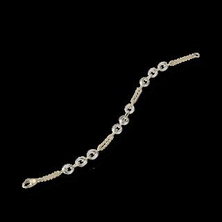 Brogle Atelier Armband Bicolorarmband Weiß- und Gelbgold 1110620-585GW-19