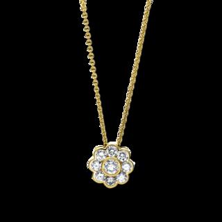 Brogle Selection Halskette mit Anhänger Basic Blume 4F027G8-1